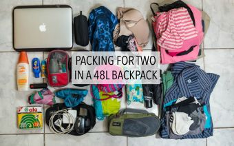Light Packing For The Traveling Couple - A 48-Liter Backpack For Two!