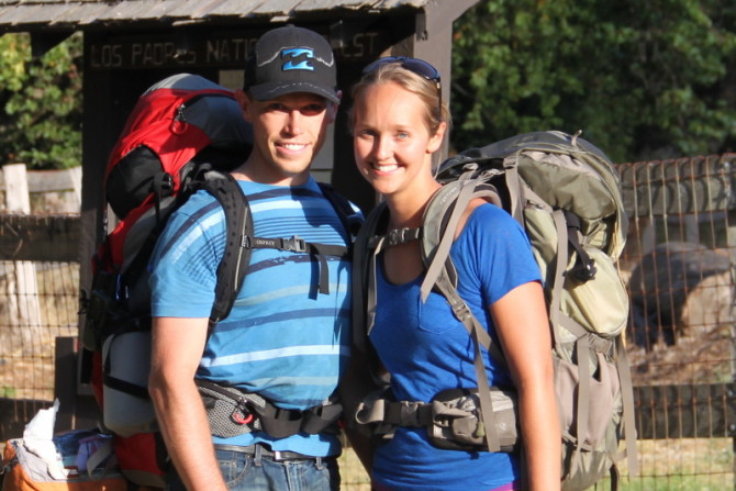 About Landon and Alyssa Backpacking and traveling