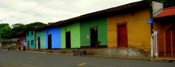 Colored houses in Nicaragua
