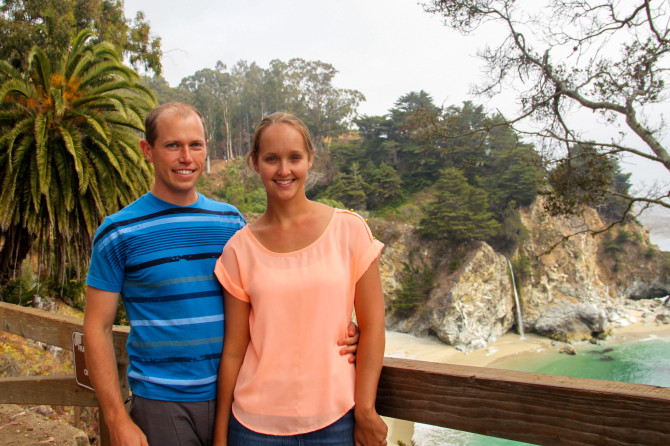 Welcome to our travel website! Landon and Alyssa in Big Sur