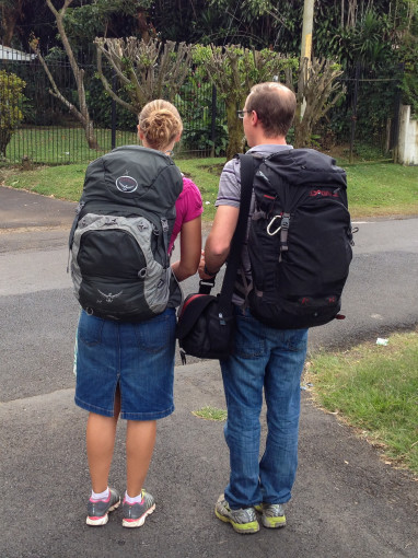 Landon and Alyssa show how to travel light with small lightweight backpacks