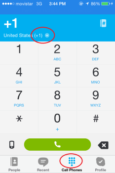 How to call using Skype on the iPhone app
