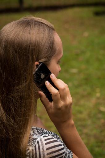 Alyssa Talking on Phone