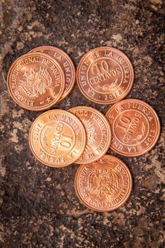 Bolivia Money Coins 10 Centavos Bolivianos