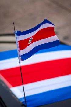 Costa Rica Flag on Car Antenna