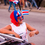 Dude with Costa Rica flags on his crazy sunglasses