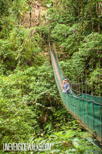 Landon and Alyssa on Hanging Bridge in Arenal, Costa Rica