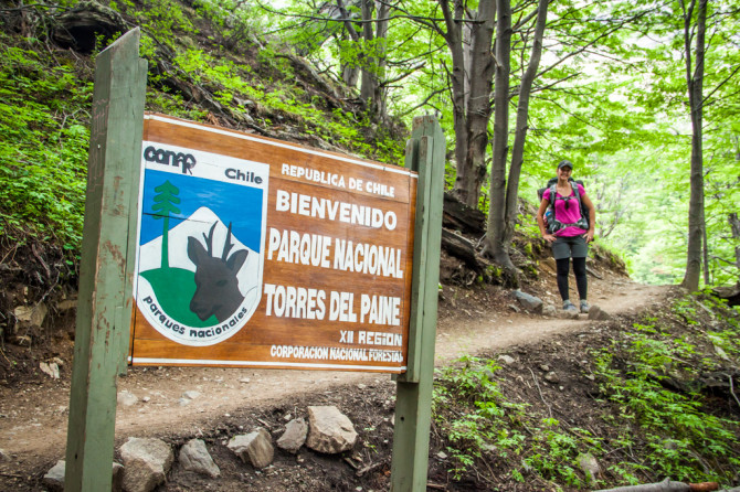 Torres del Paine Alyssa Sign