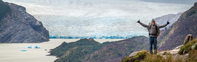 Torres del Paine Landon with Glacier Grey