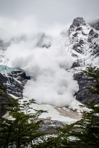 Torres del Paine Landslide in Valle del Frances