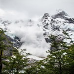 Torres del Paine Avalanche in Valle del Frances Mountains