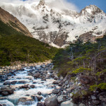 Torres del Paine Mountains and River