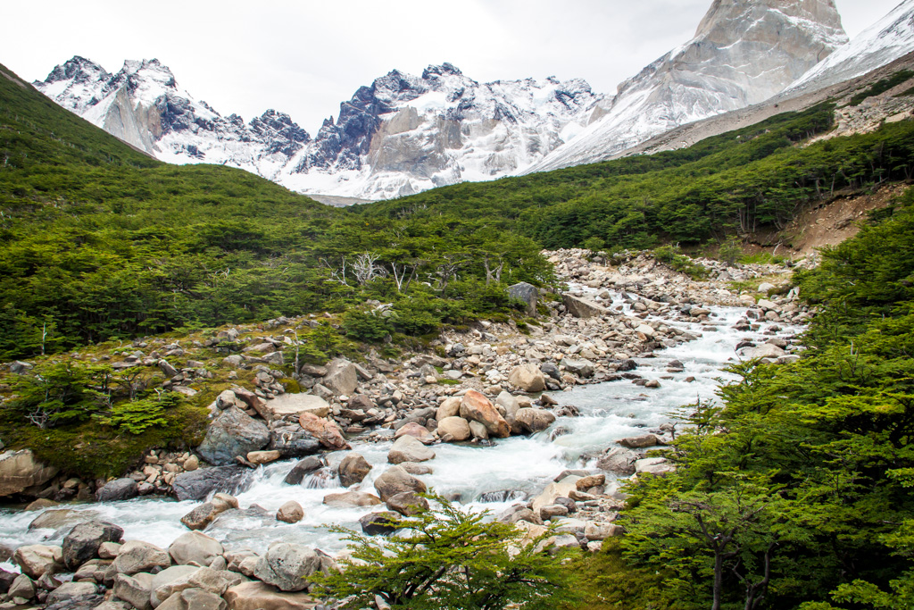 Torres del Paine - River in Valle del Frances
