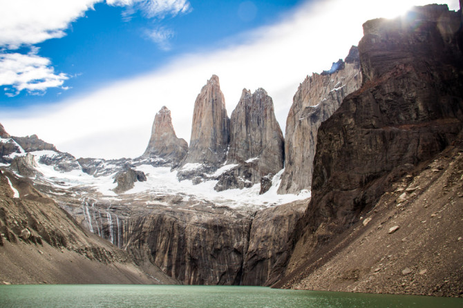 Torres del Paine Viewpoint from Lake