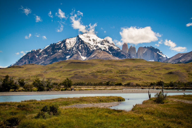 Torres del Paine from Entrance