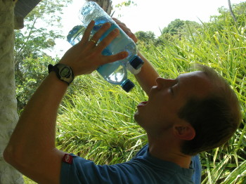 Drink Water on a hot day to save money while traveling