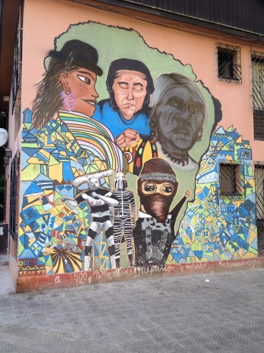Mural in Santiago