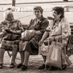 Old ladies on a bench in Curico
