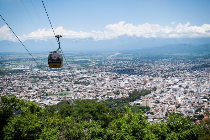 Tram in Salta, Argentina