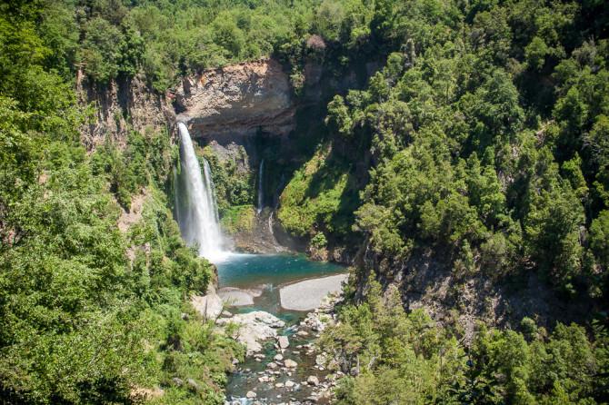 Siete Tazas Velo de la Novia Waterfall with Trees