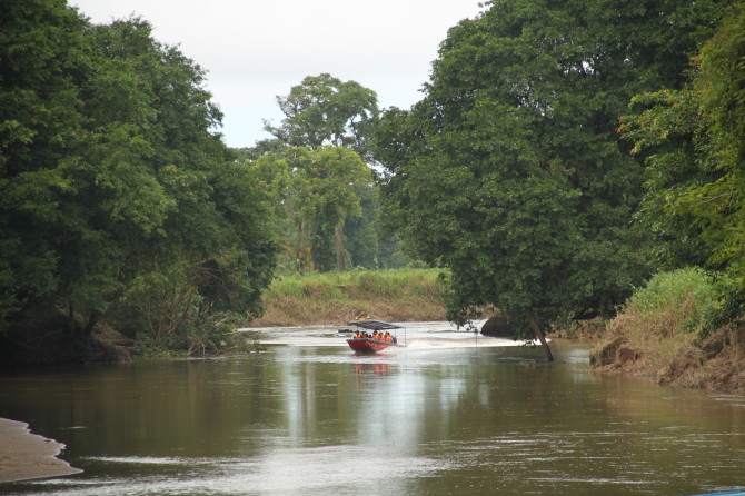 Boats in Canal at Tortuguero National Parks in Costa Rica