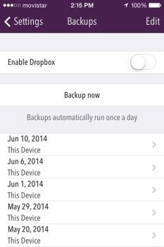 Trail Wallet Screenshot Backup Page