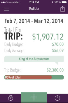 Trail Wallet app Screenshot Main Screen