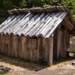 Old Antique Wood Cabin House in Conguillio national park