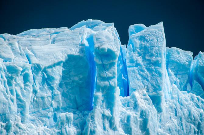 Deep Electric Blue Glacier