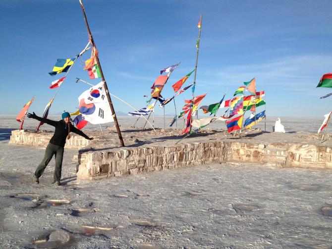 Geocaching at Uyuni Salt Flats