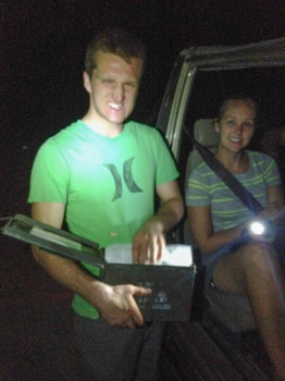 Geocaching in the desert with an ammo box