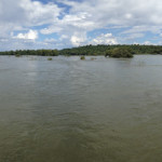 180 Degree View on Iguazu Falls Bridge Walkway