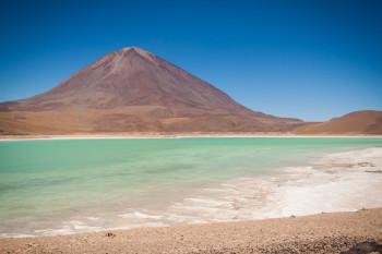 Beautiful view of Laguna Verde, Bolivia