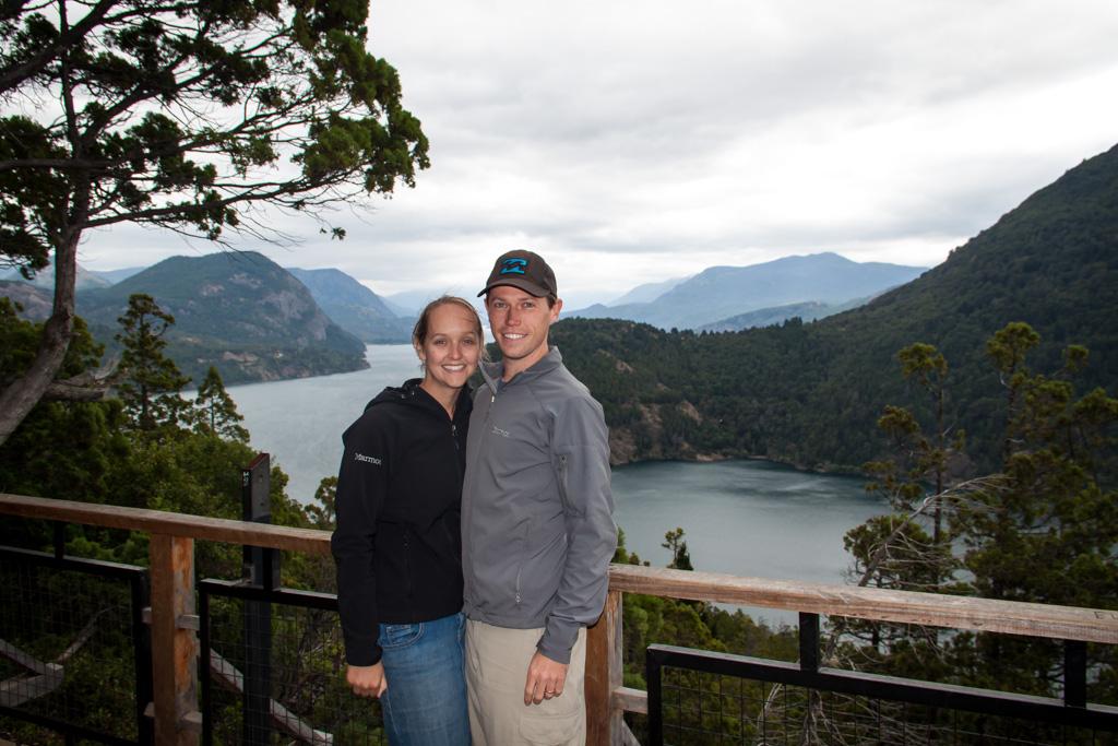 Landon and Alyssa at San Martin de Los Andes Lake