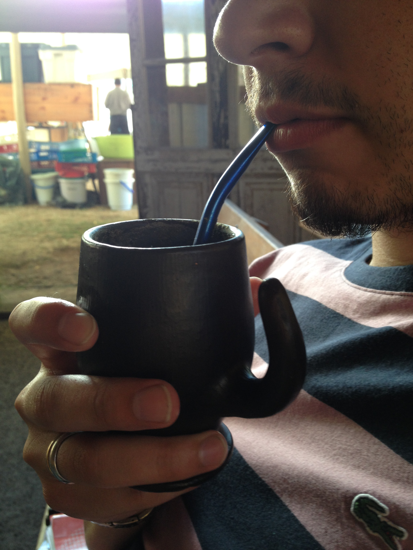 Drinking Mate Cup with Straw