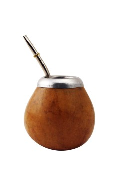 Mate Gourd with Metal Straw