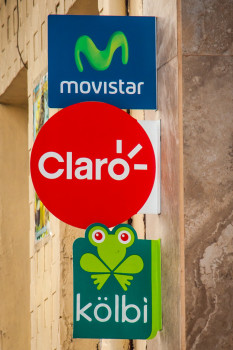 Movistar Claro and Kolbi Signs Rt Side.jpg