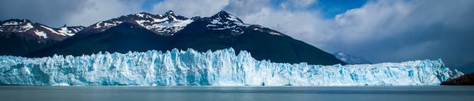 Perito Moreno Glacier panorama from boat ride