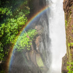 Rainbow with Waterfall in Background