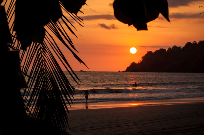 Sunset at Manuel Antonio Beach in Costa Rica