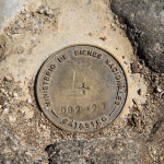 Survey Marker at Conguillio National Park, Chile