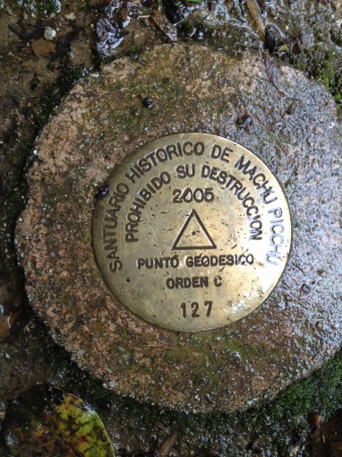 Survey Marker at Machu Picchu