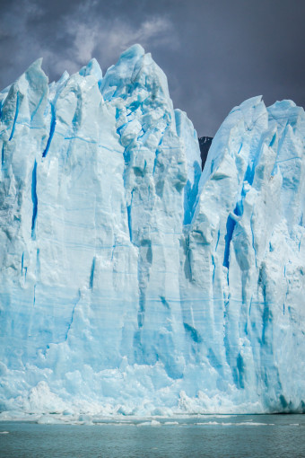 Tall Glacier Up Close, near El Calafate, Argentina