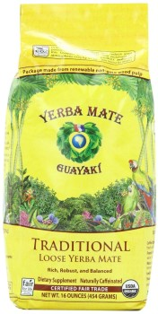 Bag of Yerba Mate Tea Leaves