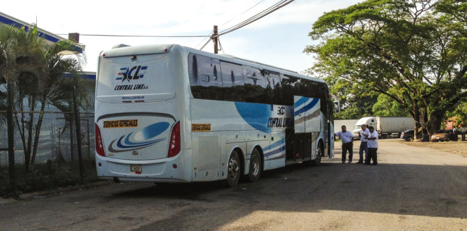 Boarding Bus, Crossing the Border From Nicaragua to Costa Rica