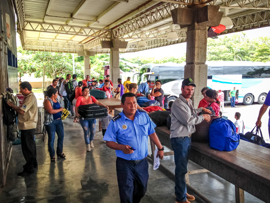 Customs Check Tables, to Cross the Border into Nicaragua