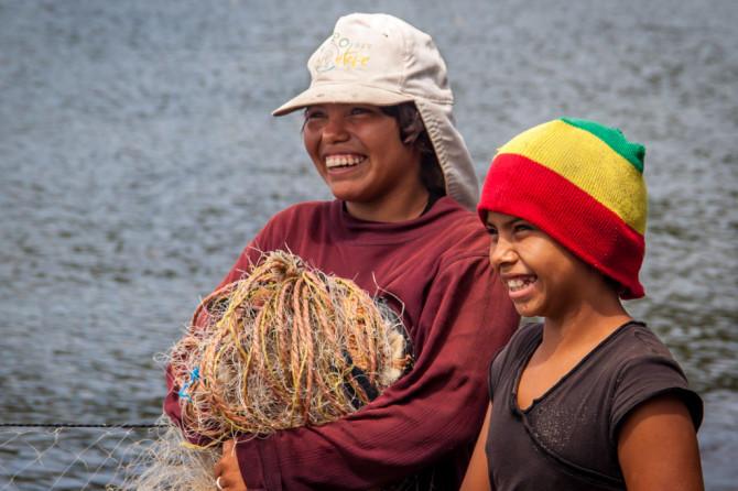 Fishing Kids Smiling