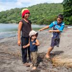 Kids Pulling in Fishing Net