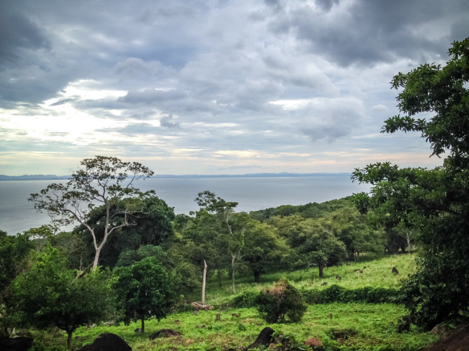 View of Lake Nicaragua from the Volcano