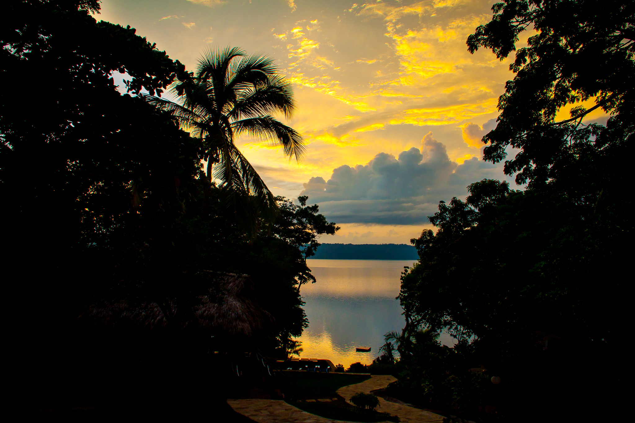 Laguna de Apoyo Sunrise Over the Lake